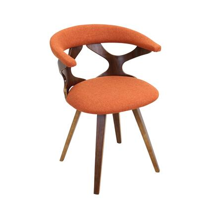 """LumiSource Gardenia CH-GARD WL 21"""" Chair with Fabric Upholstery, Cutoff Back and Tapered Legs in"""