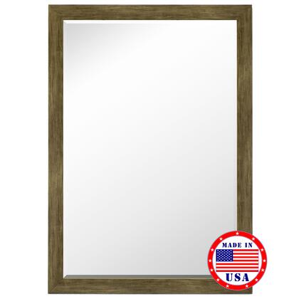Hitchcock Butterfield 81220X 2nd Look Weathered Sand Barn Siding Petite Framed Wall Mirror