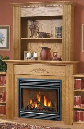 Napoleon WBKFXB Flat Upper X Bookcase Wall Kit for Medium and Large Mantels