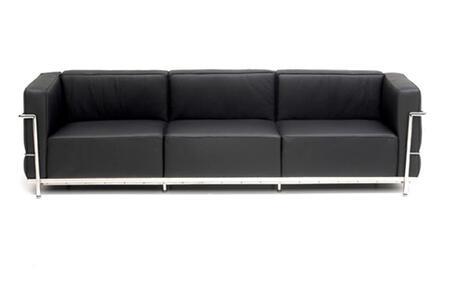 Fine Mod Imports FMI2204 Grand Le Corbusier3 Collection Leather Sofa: