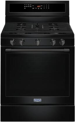"Maytag MGR8800Fx 30"" Freestanding Gas Range with 5.8 cu. ft. Capacity, True Convection, Power Preheat, 5 Sealed Burners, Self Clean, and Storage Drawer"
