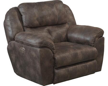 "Catnapper Ferrington Collection 761890-7- 52"" Power Lay Flat Recliner with Power Headrest, Padded Polyester Fabric and Decorative Luggage Stitching in"