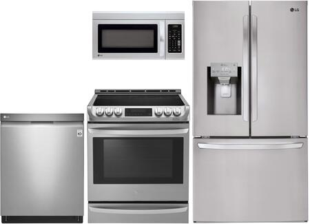 Lg 1011698 4 Piece Stainless Steel Kitchen Liances Package