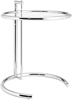 Modway EEI125SLV Eileen Series Modern Round No Drawers End Table