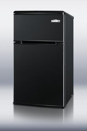 Summit CP36BK  Freestanding Counter Depth Compact Refrigerator with 3 cu. ft. Capacity, 1 Wire ShelfField Reversible Doors
