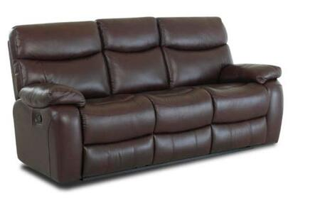 Klaussner KEYRLS Key Series Leather Reclining with Wood Frame Loveseat