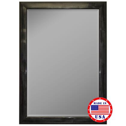 Hitchcock Butterfield 81250X 2nd Look Austrian Stepped Mahogany Silver Trim Framed Wall Mirror