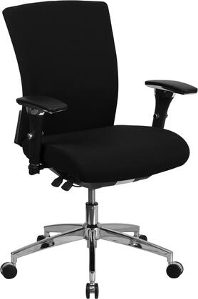 """Flash Furniture HERCULES GO-WY-85- 39"""" - 42"""" 24/7 Multi-Functional Executive Swivel Chair with 300 lb. Capacity, Seat Slider, Waterfall Seat and Pneumatic Seat Height Adjustment in"""