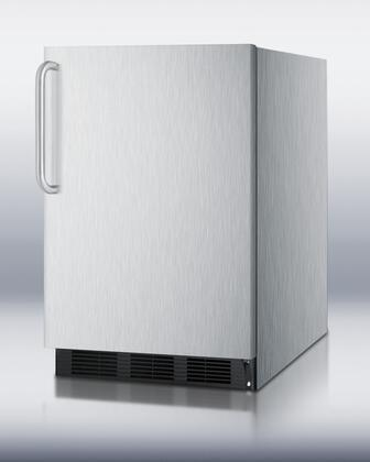 Summit FF6BCSSADA SCFF55BCSSADA Series Counter Depth All Refrigerator with 5.5 cu. ft. Capacity in Stainless Steel