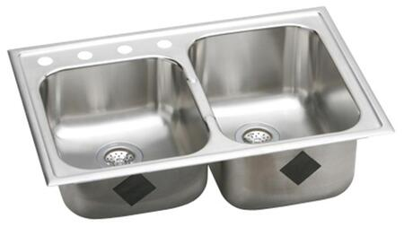 Elkay EG25010R Gourmet Elumina Kitchen Sink 2 Bowl: