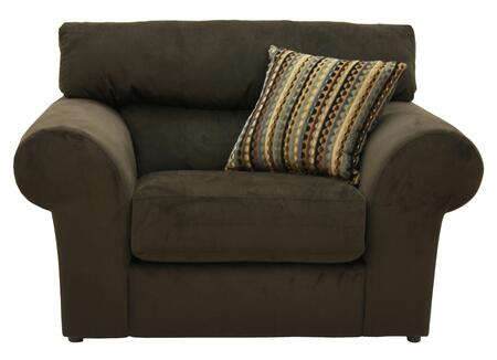 "Jackson Furniture Mesa Collection 4366-01- 60"" Chair and a Half with Pub Back Design, Rolled Arms and Pillow in"
