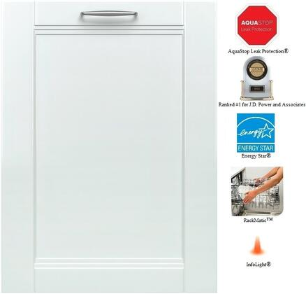 """Bosch SHV68T53UC 24"""" 800 Series Built In Fully Integrated Dishwasher"""