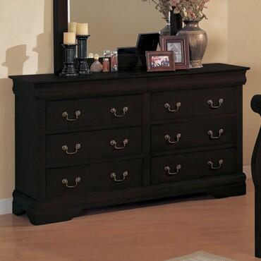 Yuan Tai 6707DRBK Louis Philippe Series  Dresser