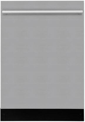 """Blomberg DWT54100 24"""" Fully Integrated Built-in Dishwasher with 4 Wash Cycles, 12 Place Settings, 3 Wash Temps, and a Adjustable Upper Rack in"""