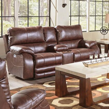 Catnapper 64279115259125259 Sheridan Series Faux Leather Reclining with Metal Frame Loveseat