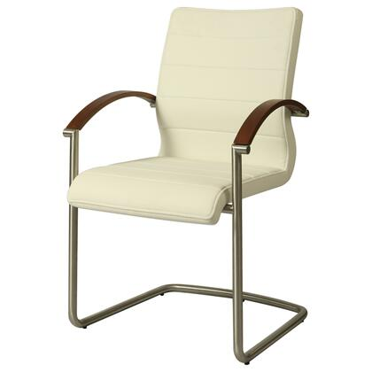 Pastel Furniture QLAK117219786 Akasha Dining Chair With Arms in Off-White