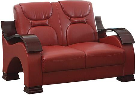 Glory Furniture G489L Faux Leather Stationary Loveseat