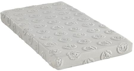 "MLily Sweet Dreams Collection SWEETDREAMS6 6"" Mattress with Pillow Included, Soft Teddy Bear Quilting, Washable Water-Proof Cover and Visco Elastic Memory Foam in White Color"