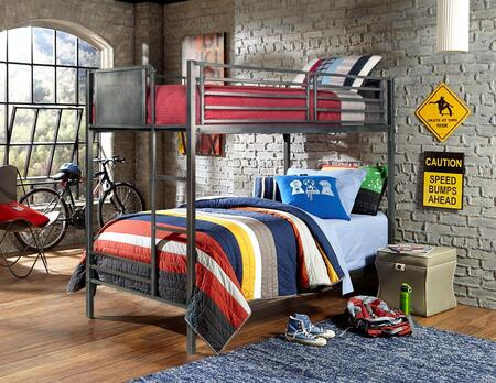 Hillsdale Furniture 1265BB Urban Quarters Series  Twin Size Bunk Bed