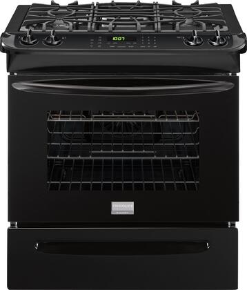 """Frigidaire Gallery FGGS3065P 30"""" Slide-In Gas Range with 4 Sealed Burners, 4.5 Cu. Ft., True Convection Oven, Self-Cleaning Oven, Auto Shut-Off, Quick Preheat, and Electronic Ignition, in"""