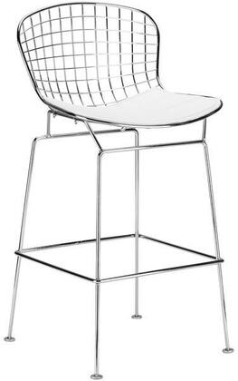 EdgeMod EM181WHI Morph Series Residential Bar Stool
