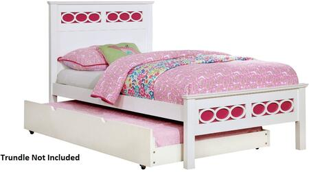 Furniture of America CM7853PKTBED Cammi Series  Twin Size Bed
