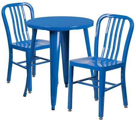 Flash Furniture CH51080TH218VRTBLGG Industrial Round Shape Patio Sets