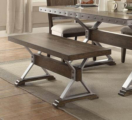 Coaster 107013 Beckett Series Kitchen Armless Wood and Metal Not Upholstered Bench