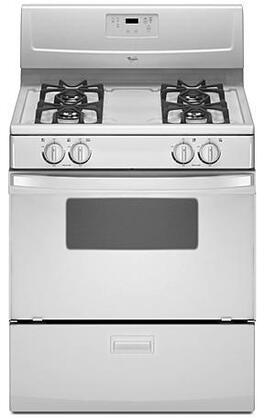 "Whirlpool WFG114SWQ Gas Sealed Burner 30""4 No Freestanding Range |Appliances Connection"