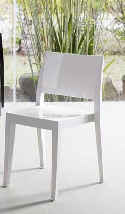 Modloft PAP400435 Gower Series Modern Not Upholstered Plastic Frame Dining Room Chair