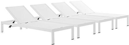 "Modway EEI2473WHIWHISET 76"" Lounge Chair"