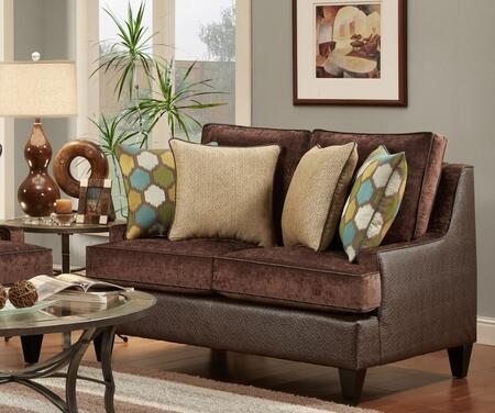 Chelsea Home Furniture 632128022 Catania Series Fabric Stationary with Wood Frame Loveseat