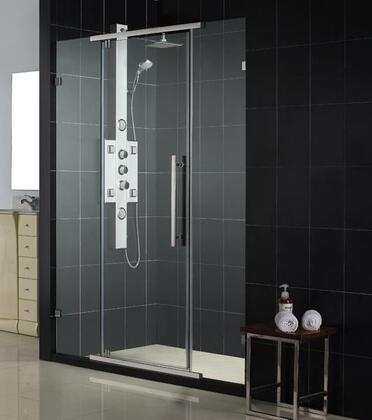 DreamLine SHDR-21467610 Vitreo Frameless Pivot Shower Door With Frameless Glass Design with Wall-Mounted Brackets, Reversible For Right Or Left Door Opening & In