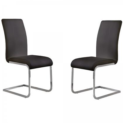 Armen Living LCAMSIX Set Of Two Amanda Side Chair with Lacquer Finish and Chrome-built in
