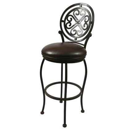 Pastel Furniture QLIF225 Island Falls Counter Height Swivel Barstool in Brown