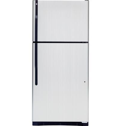 GE GTK18ICDBS Freestanding Top Freezer Refrigerator with 18.0 cu. ft. Total Capacity 3 Glass Shelves 5.09 cu. ft. Freezer Capacity