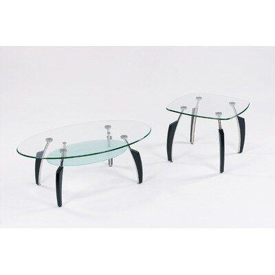 Global Furniture USA 138BL3PC Coffee and Cocktail Tables