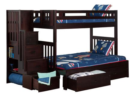 Atlantic Furniture AB63711  Twin over Full Size Bunk Bed