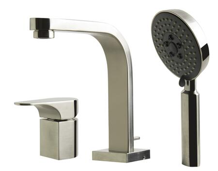 Alfi AB2703-XX Deck Mounted Tub Filler and Round Hand Held Shower Head with Brass, 1.8 GPM, UPC Certification, Valve/Mixer Piece and Diverter Lever in