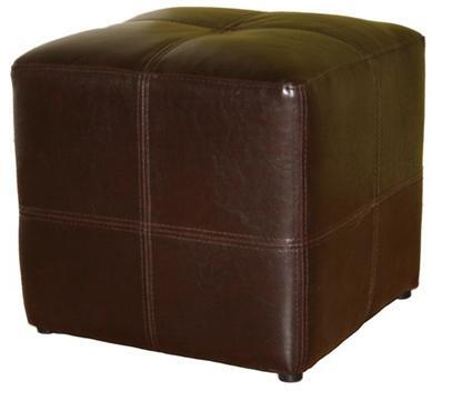Wholesale Interiors ST19DARKBROWN Nox Series Contemporary Bonded Leather Ottoman