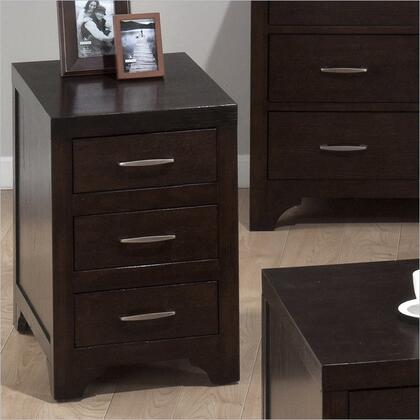 Jofran 0467 Contemporary Rectangular 3 Drawers End Table