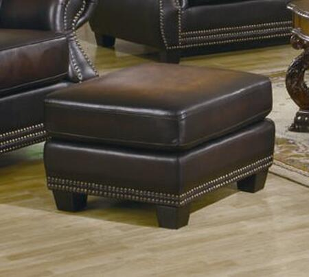 Coaster 502994 COBY Series Traditional Leather Ottoman