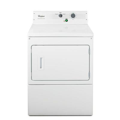 """Whirlpool M2793BQ 27"""" Commercial Non-Metered Full Console On Premise x Dryer with 7.4-Cu.-Ft. Drum Capacity, 3 Cycles, Commercial Grade Blower Wheel, and 180-Wide-Opening Reversible Side-Swing Door in Whit"""