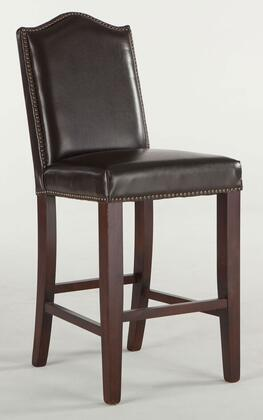 "Home Trends & Design Sofia ZWSF73C 42"" Counter Height Bar Stool with Nail Head Trim, Artisan Frame, Tapered Legs and Leather Seat Upholstery in Color"