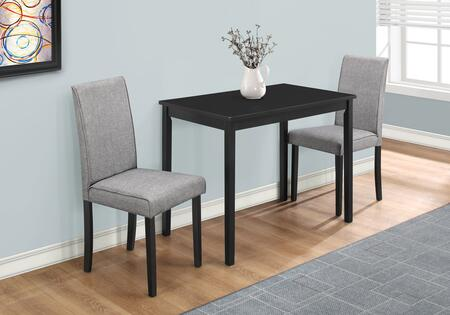 Monarch I101DS 3-Piece Dining Set with Rectangular Table and 2 Side Chairs in