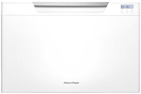 "Fisher Paykel DD24SCW7 24"" DishDrawer Series Drawers Semi-Integrated Dishwasher with 7 Place Settings Place Settingin White"