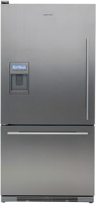 Fisher Paykel RF175WDLUX1 Active Smart Series Counter Depth Bottom Freezer Refrigerator with 17.5 cu. ft. Total Capacity 5.1 cu. ft. Freezer Capacity 2 Glass Shelves