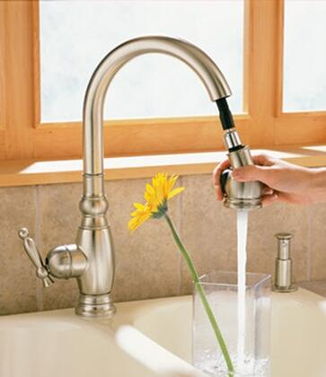 Kohler K690 Single Handle Pullout Spray Kitchen Faucet from the Vinnata Collection:
