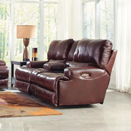 Catnapper 64589128319308319 Wembley Series Leather Reclining with Metal Frame Loveseat