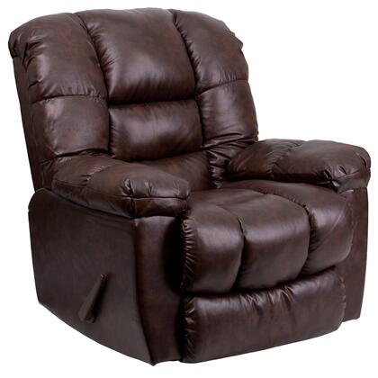 Flash Furniture AM95504800GG Contemporary New Era Series Contemporary Bonded Leather Wood Frame Rocking Recliners